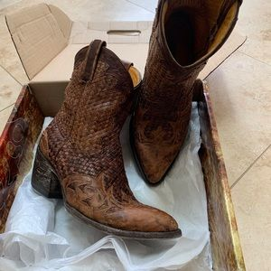 Old Gringo Braided Leather Boots 8